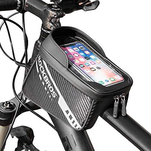 WHCL Bolsa de Marco de Bicicleta, Bolso del Marco Delantero del teléfono de la Bicicleta con el Soporte del teléfono, Bolsa de Tubo Superior de Bicicleta, Bolsa de Almacenamiento de Ciclismo