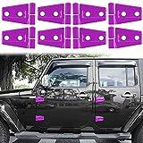 LAIKOU 8 PCs Door Hinge Cover Trim Exterior Protection Decoration Accessories for 2007-2018 Jeep Wrangler JK JKU Sport Sahara Rubicon Unlimited 2-Door & 4-Door (Purple)