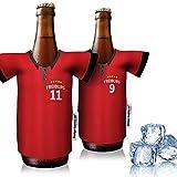 vereins-Trikot-kühler Home für SC Freiburg Fans | 2er Fan-Edition| 2X Trikots | Fußball Fanartikel Jersey Bierkühler by Ligakakao