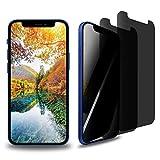 Mikonca 2 Pack Privacy Pellicola Protettiva Hydrogel Film per iPhone 12/12Pro 6.1 in Pellicola Protettiva con Privacy Anti-graffio Superficie Curvata