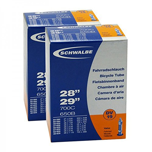 2x Schwalbe Fahrrad Schlauch 27.5-29 Zoll DV19 28x1.5-2.35 40-62/584-622 NR.19 DV