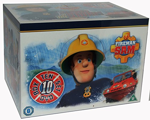 Fireman Sam 10 DVD Children Box Set, Heros of the Storm, on thin ice, ocean rescue, brave to the core, hero at sea, snow trouble, mountain rescue, help is here!, helicopter heroes and sos sam