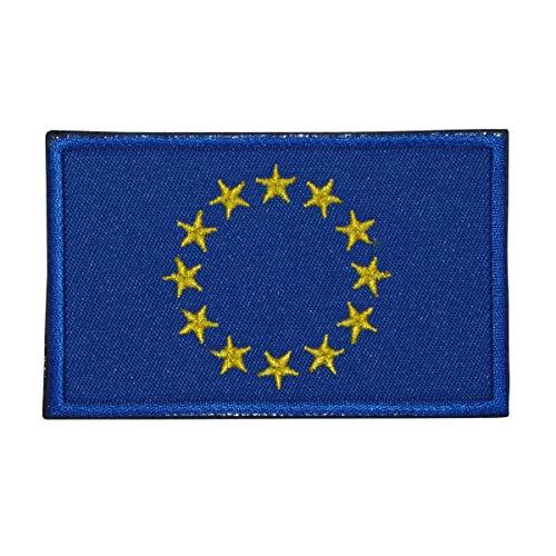 Cobra Tactical Solutions Flagge Europäische Union Europa EU Military Besticktes Patch mit Klettverschluss für Airsoft Cosplay Paintball für Taktische Kleidung Rucksack