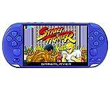 New 5.1 inch 16GB 128Bit Retro Handheld Video Game Console Built-in 3000 Games for Arcade NEOGEO/CPS/FC/NES/SFC/SNES/GB/GBC/GBA/SMC/SMD/SEGA Handheld Game Console mp3/4 (Blue)
