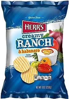 Herr's Creamy Ranch & Habanero Potato Chips - 9 oz. Bag (4 Bags)