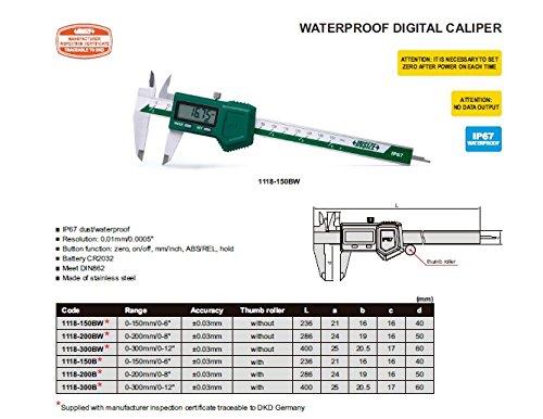 CALIBRE DIGITAL IP67 WATERPROOF (0-150/0-6´´)