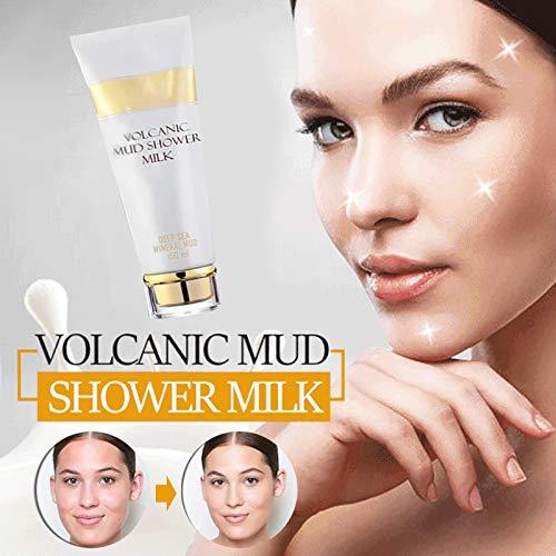 FinWell Whitening Volcanic Mud Bath Cream150 ML Body Wash Exfoliating Body Lotion for Men Women