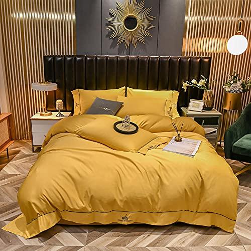 funda de edredón de cuna,Ropa de cama de primavera y de verano, Tiansi europeo de piel de piel de piel de piel soltera de una almohada Dormitorio Bedroom Habitación infantil Regalo-mi_1,8 m de cama (