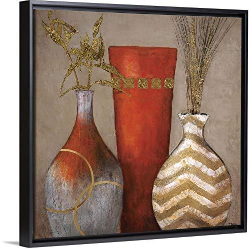 "Mia Casa a Portofino II Black Floating Frame Canvas Art, 18""x18""x1.75"""