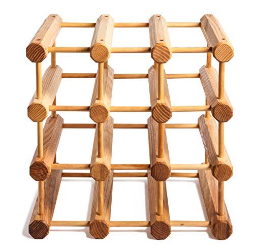 J.K. Adams JK Adams Wood Modular Wine Rack with Natural Pins, 12 Bottle, Maple