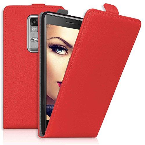 mtb more energy® Flip-Hülle Tasche für LG Class/LG Zero (H650, 5.0'') - Rot - Kunstleder - Schutz-Tasche Cover Hülle