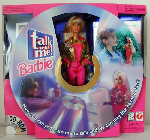 Talk with Me Barbie Doll W Cd ROM & More! (1997) [Toy]