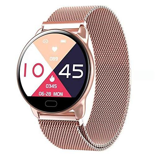 MYONLY 2020 Nueva Pantalla DE Color DE K9 Mujeres A Prueba De Agua Reloj Inteligente Hombres Ritmo Cardíaco Presión Arterial Monitoreo Smartwatch,H
