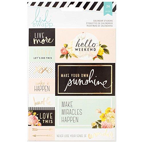 American Crafts Heidi Swapp Pegatinas para Memory Planner Calendario
