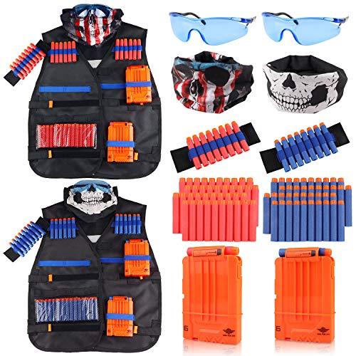 Tactical Vest Kit 2 Pack for Nerf Guns N-Strike Elite Series for Boys