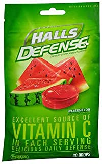 Halls Vit C Watermelon Size 30ct