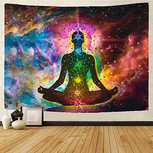 Buda tapiz mandala tapiz colgante de pared bohemio psicodélico tapiz brujería tapiz manta tela colgante A5 130x150cm