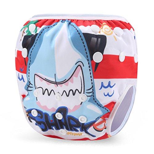 Storeofbaby Pañal de baño reutilizable para niños y niñas Pantalón de baño para nadadores pequeños 0-3 años