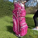 Sac chariot de golf imperméable pour femme - Plume rose (rose)
