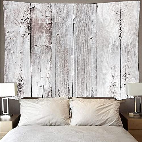 Tablón de madera blanco vertical tela de pared retro tapiz de arte retro hippie colgante de pared toalla de playa psicodélica tela de fondo A2 73x95cm