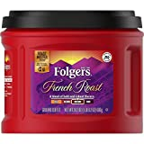 Folgers French Roast Medium Dark Roast Ground Coffee, 24.2 Ounces