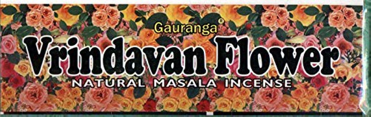 避けられないコースなかなかVrindavan Flower Incense - (100 Gram Pack)