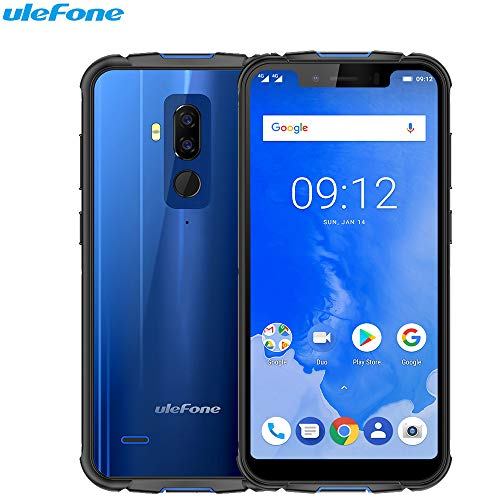 Ulefone Rüstung 5 - IP68 Wasserdicht Stoßfest Outdoor: Face Tracking ID 2.0GHz Octa-Core Smartphones 5.85 + HD 4GB 64GB 5000mAh Android 8.1 Blau