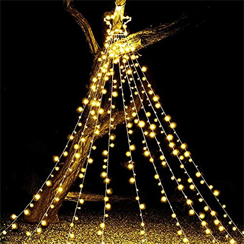 jieGorge 300 LED Tree Decoration Star Lights 8 Lighting Modes Waterproof for Home Party, LED light for Easter Day (B)