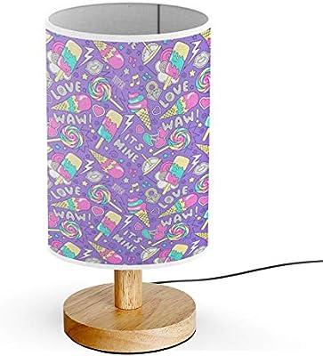 ARTSYLAMP - Wood Base Decoration Desk Table Bedside Light Lamp [ Colorful Trendy ]