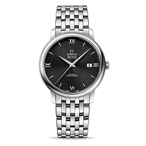 Omega De Ville Prestige quadrante nero automatico orologio da uomo 42410402001001