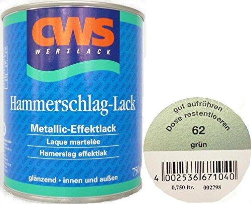 CWS WERTLACK® Hammerschlag-Lack grün 750 ml Inhalt