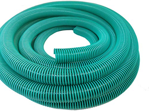 Hero Manguera en espiral para aspiración y extracción de presión, 40 mm, color verde/transparente, 10 metros