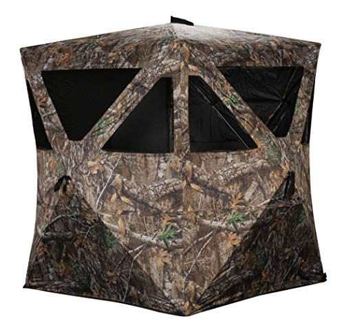 Rhino Blinds R100-RTE 2 Person Hunting Ground Blind, Realtree Edge
