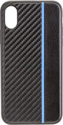 Preisvergleich Produktbild Commander Back Cover Carbon Plus für Apple iPhone X / XS Blue Stripes