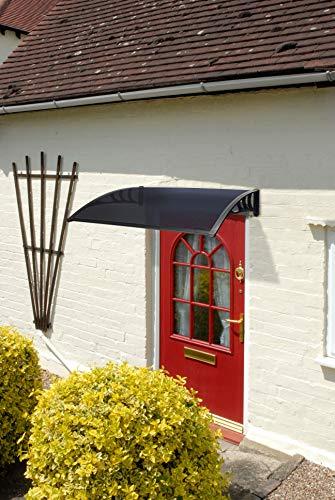 Greenhurst 11281,2m Easy Fit getöntes Tür Vordach, schwarz