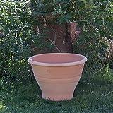 Kreta-Keramik Artemesia - Maceta de terracota de alta calidad, hecha a mano y resistente a las heladas, cuenco de cerámica de alta calidad para jardín/terraza, 50 cm
