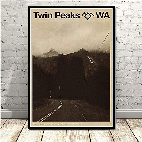 Twin Peaks TV Series Shows Classic Movie Anime Poster and Prints Canvas Painting Art Wall Pictures for Living Room Mural 50 × 70Cm No Frame