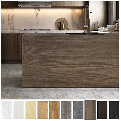 Losu Holz Selbstklebende Klebefolie Wasserdicht 61 X 500cm Möbelsticker PVC Dekorfolie Folie Möbelfolie Türfolie für Fensterbank,Wände,Möbel, Küche,Tür Type D