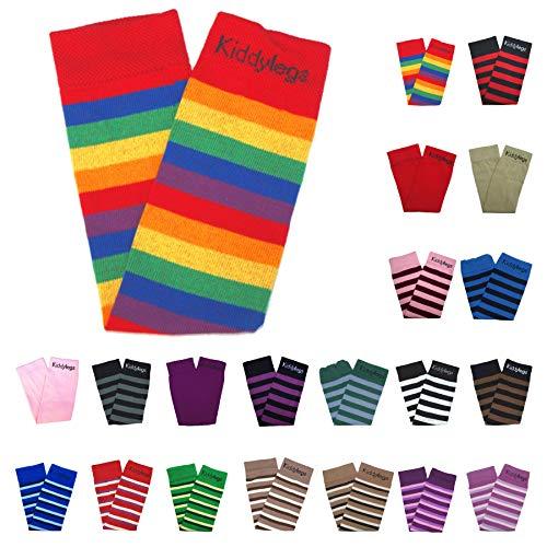 Kiddylegs® Premium Baby- und Kinderstulpen Beinwärmer - Extra weit (Regenbogen)