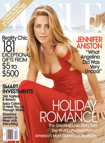 VOGUE MAGAZINE December 2008 Jennifer Aniston Cover