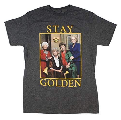 Official Golden Girls Men's Stay Golden Group Photo Golden Years T-Shirt, S to 4XL
