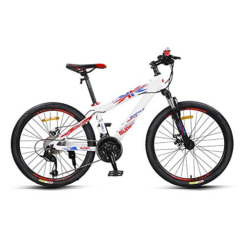 Mountain Bikes, Cross-Country Variable Speed Bikes, 24-inch Tires, 27-Speed, Aluminum Alloy Frame, Mechanical Disc Brakes, Suitable for Teenagers and Adults/B/As Shown