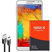 SUNZOS Galaxy Note 3 Battery, 3300mAh Li-ion Replacement Battery for Samsung Galaxy Note 3 [ N9000, N9005 LTE, AT&T N900A, Verizon N900V, Sprint N900P, T-Mobile N900T ] [3 Years Warranty]