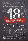 Geburtstagskarte zum 18. Geburtstag