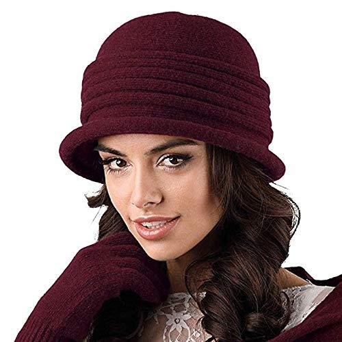 Kamea Salerno - Cappello da donna, per autunno inverno rosso vivo Taglia unica