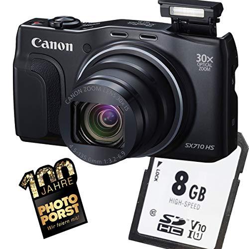 1A Photo PORST Starter Angebot Canon Powershot SX710 HS Schwarz+SD 8 GB Speicherkarte