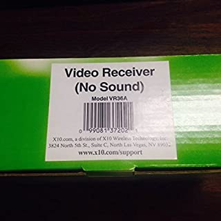 X10 Camera Video Receiver, No Sound (Model VR36A)