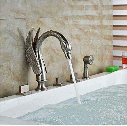 Waschbecken Wasserhahn New gebürstet Nickel Badewanne Wasserhahn Handbrause Wasserhahn Luxus-Dusche Dusche Wasserhahn