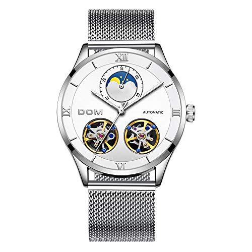 Mechanische Uhren Herren Skeleton Watch Automatische mechanische Herren Original Lederuhren wasserdichte Automatikuhr-Stil: 5