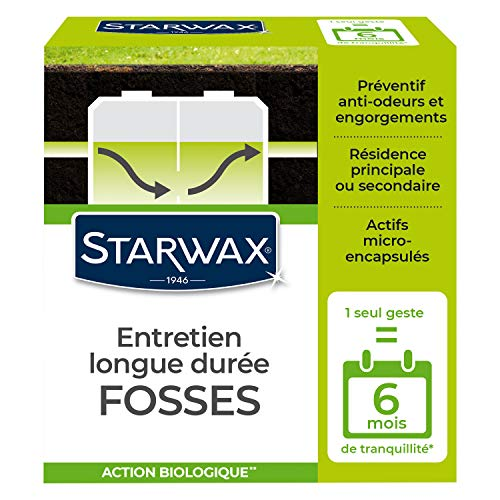 STARWAX Entretien Longue Durée pour Fosses Septiques - 500g - Idéal pour Entretenir les Fosses Septiques